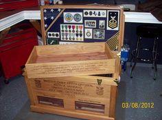 Military shadow box trunk