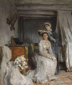 Léon Augustin Lhermitte, 1885 - Le couronnement de la mariée.jpg