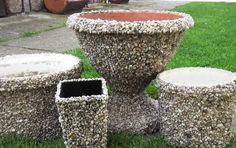 Tip do zahrady od Marcely (36) z Mirošova: Kamínkové květináče!