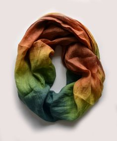 Hey, I found this really awesome Etsy listing at https://www.etsy.com/listing/129062698/dip-dye-green-linen-scarf-oversized