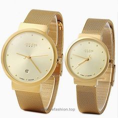 JULIUS JA-426 Couple His and Hers Gold Ultra Thin Quartz Analog Mesh Stainless Steel Fashion Wrist Watch BUY NOW     $64.98     The male dial diameter: 3.8 cm / 1.50 inches  The male watchband width: 1.8 cm / 0.71 inches  The male watch weight: 0.052 kg  The male watch size (L x W x H): 23.5 x 3.8 x 0.8 cm / 9.24 x 1.49 x 0.3 inches  Th ..