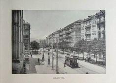 Gran Vía 1900. Tranvia frente a Diputacion Ugly Duckling, Basque Country, Louvre, Travel, Blog, Lost City, Barcelona City, Saint Nicholas, Buenaventura