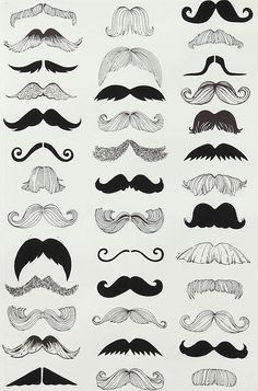 Image discovered by Thalissa. Find images and videos about illustration, mustache and moustache on We Heart It - the app to get lost in what you love. Doodle Drawing, Alexander Henry Fabrics, Beard No Mustache, Mustache Party, Movember Mustache, Big Moustache, Mustache Grooming, Handlebar Mustache, Hair
