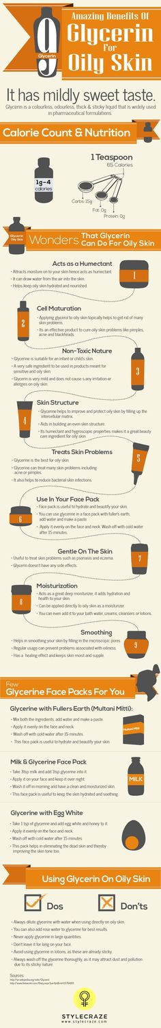 9 Amazing Benefits Of Glycerin For Oily Skin * Skin Care, Glycerol, Glycerin, Acne, Oily Skin,