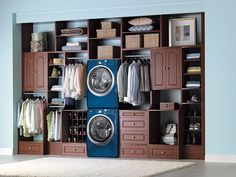 How about combining your laundry room with your wardrobe?