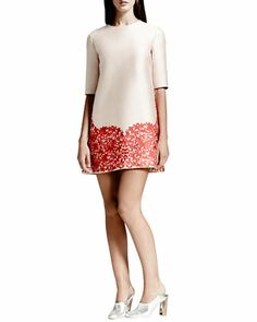 Lace-Hem Shift Dress, Rose/Red by Stella McCartney at Bergdorf Goodman.