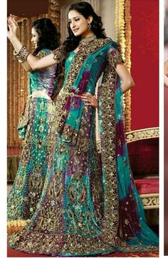 #lengha -could be for a peacock theme!