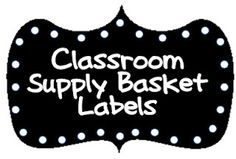 Free labels for your classroom supply baskets. They are so cute with pictures and words! good for the little ones