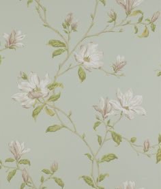 Marchwood Aqua wallpaper by Colefax and Fowler