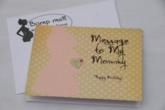 Happy Birthday Card From Baby To Be Message My Mommy Pregnant Wife