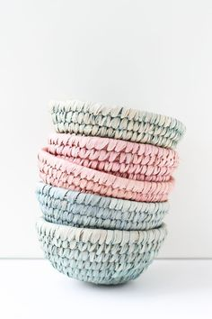 DIY // Dip Dyed Woven Baskets