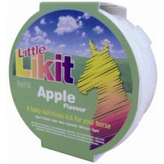 Likit Little Likit Refill Apple 250g Mouth-wateringly tasty Likit and Little Likit treats are designed to be used in conjunction with our range of Likit Toys to relieve the boredom and stress of stabled life!