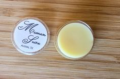 Organic Unscented Lip Balm with Raw Fair Trade Shea Butter by MamanSucre on Etsy  The perfect unisex vegan lip balm in an adorable plastic pot.  Buy one for your sweetie and one for yourself!