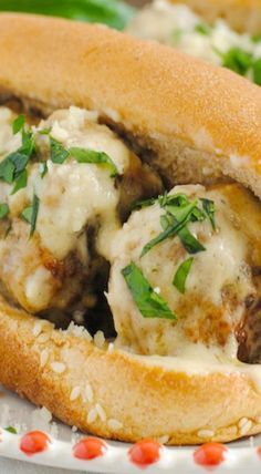 Meatball Subs with Garlic-White Wine Sauce