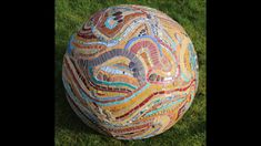 3D mosaic art sphere by Sue Kershaw 2018