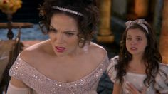 Regina finds out that young Snow White accidentally betrayed her by telling her mother (Cora) that Regina was in love with a stable hand