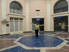 Sept. 21, 2012 - Our Director, Sherie Brown, standing on the NEW rotunda floor!