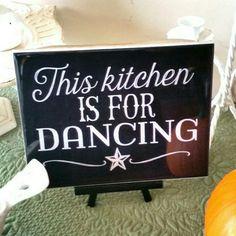 Fun kichen decor!   #kitchen #foodie #decor #dancing #home #rustic #art