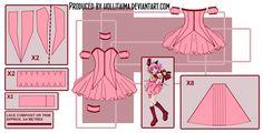 Ichigo - Tokyo Mew Mew Cosplay Pattern Draft by Hollitaima.deviantart.com on @deviantART