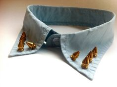 Handmade Studded Shirt Collar Necklace Accessory