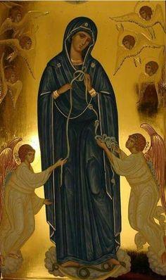 Призывайте с верою и молитесь Божией Матери и Святым. Они слышат наши молитвы и знают даже помышления наши. И не удивляйтесь этому. Все небо Святых живет Духом Святым, а от Духа Святого ничто во всем мире не скрыто. Преподобный Силуан Афонский Радуйся, источник всех благ жизни, источник милости! Religious Images, Religious Icons, Religious Art, Byzantine Art, Byzantine Icons, Greek Icons, Church Icon, Celtic Goddess, Images Of Mary