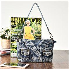 Denim Shoulder Bags, Store, Larger, Shop