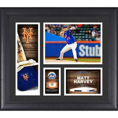 "Matt Harvey New York Mets Fanatics Authentic Framed 15"" x 17"" Player Collage with a Piece of Game-Used Ball - $63.99"