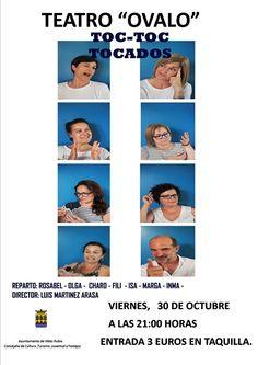 Toc Toc Tocados, es el nombre de la próxima obra de teatro que tendremos ocasión de disfrutar en Teatro Ovalo de Vélez Rubio.