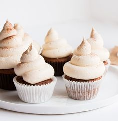 Delicious Vanilla Chai Cupcakes. Quick and easy, perfect for any winters day.
