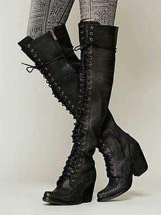 Lace Up Boot - I love these cutest knee high boots.