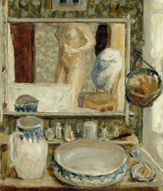 """Pierre Bonnard, """"The Dressing Table"""", 1908. Oil on canvas. Musée d'Orsay, Paris; Mr. and Mrs. Frédéric Lung Bequest, 1961, RF 1977-86"""