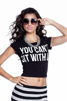 """You Can't Sit With Us"" Cropped Top only $9.99"