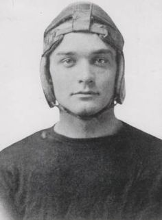 Marvin Pierce, a 1916 Miami University graduate, is shown in his football uniform in this photograph. Pierce was the father of former First Lady Barbara Bush and grandfather of President George Walker Bush. Pierce (1893-1969) was the chief executive officer of the McCall Corporation, publisher of Redbook and McCall's magazines.