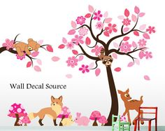 Forest Animals - Animal Wall Decals - Reusable from Wall Decal Source