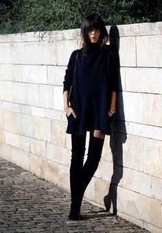 Οι Μπότες πάνω από το γόνατο με Φούστες ή Φορέματα