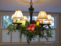 Decorating Your Chandelier for Christmas