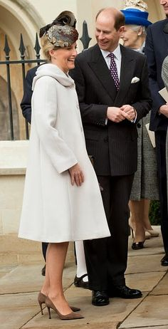 Prince Edward, Earl of Wessex and Sophie, Countess of Wessex attend the Easter Service at St George's Chapel at Windsor Castle on 05.04.2015 in Windsor, England