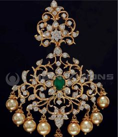 Indian Jewellery and Clothing: Diamond jewellery collection fromSitara jewellers 198 26 2 Pendant Set, Diamond Pendant, Pendant Jewelry, Emerald Pendant, Solitaire Diamond, Uncut Diamond, Pendant Necklace, Gold Earrings Designs, Gold Jewellery Design