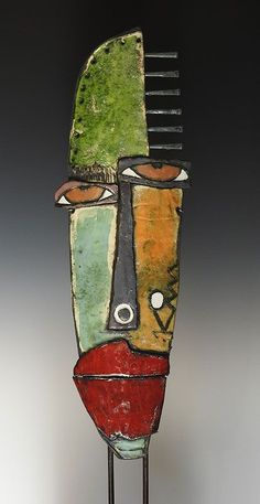 """""""The whole culture is telling you to hurry, while the art tells you to take your time. Always listen to the art. Kimmy Cantrell, Abstract Face Art, Cubism Art, Metal Art Projects, Art Africain, Junk Art, Masks Art, Art Moderne, Driftwood Art"""