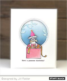 Penny Black Cards, Penny Black Stamps, Dog Cards, The Fosters, Birthday, Frame, Stamping, Blog, Design