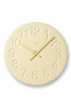 Earth Wall Clock in Yellow design by Lemnos Nara, Harrods, Ivy Wall, London Clock, Wall Clock Online, How To Make Wall Clock, Metal Clock, Media Wall, Wood Colors