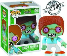 "Funko Pop Plants vs Zombies: Disco Zombie by Funko. $9.56. Stop the zombies. Measures Almost 4"" tall. Bring them home today. From the Manufacturer                This 3 3/4"" Plants vs Zombies Disco Zombie Pop. Vinyl Figure presents an instant classic in this silly zombie dressed as a disco dancer from the popular Plants vs Zombies video game, poised to add some pop culture to your house in a unique stylized form you've probably never seen before.                             ..."