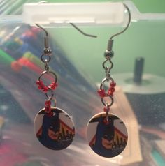 Classic Batman Earrings on sale at my etsy shop for $9.00!