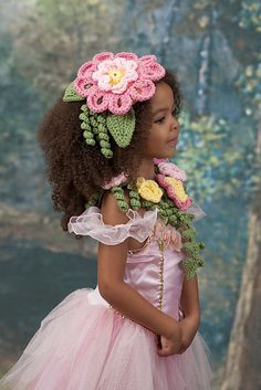 Flower Princess collar & hat, by Michele Wilcox