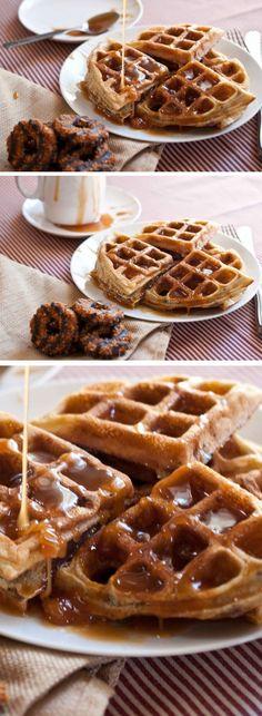Girl Scout Samoas Waffles   Homemade Brunch Ideas for a Crowd