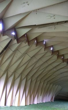 cardboard banquet paper pavilion architecture cambridge university