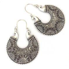 Fashion Jewelry Dynamic Lucky Om Tibetan Silver Modern Bohemian Dangle Drop Earrings Ture 100% Guarantee