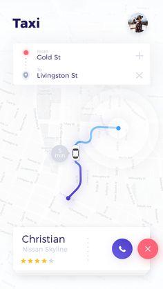 Taxi App UI by Giga Tamarashvili