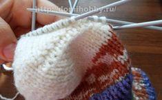 Вязание носков спицами Baby Pants, Knitted Hats, Socks, Knitting, Knits, Caps Hats, Sock Knitting, Dots, Tejidos