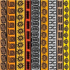 African patterns - fabric